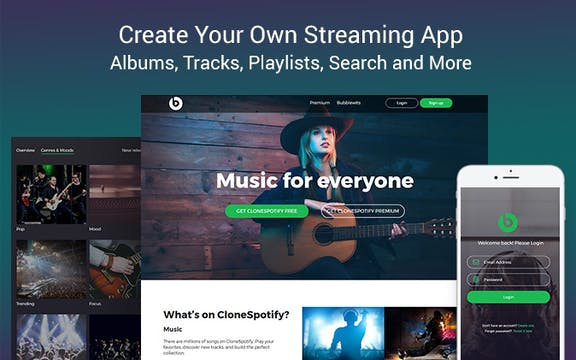 music streaming template bubble