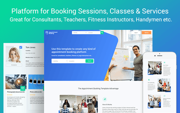 bookings appointments template bubble