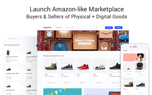 Digishop - Digital Goods Marketplace Template - No-Code