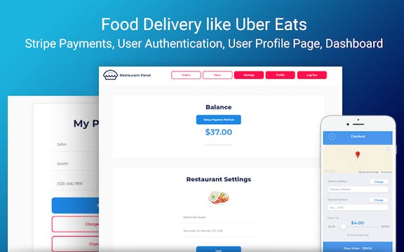 Food Delivery - Uber Eats Template | Bubble