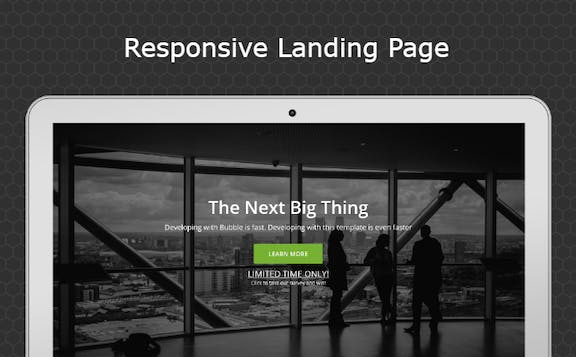Startup Landing Page Template Bubble