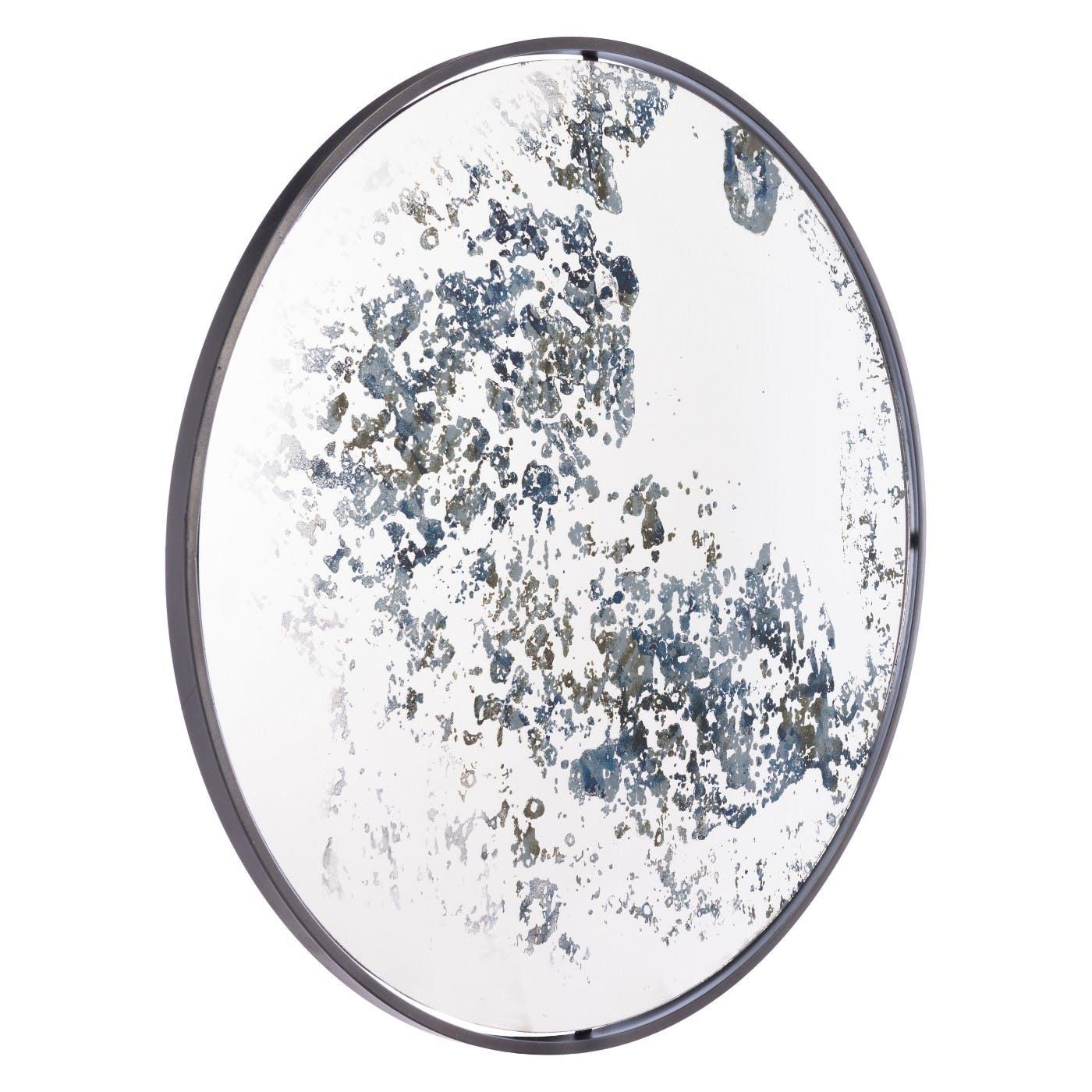 Antique Finish Round Mirror