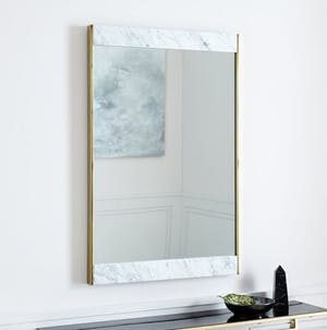 Marble and Brass Wall Mirror