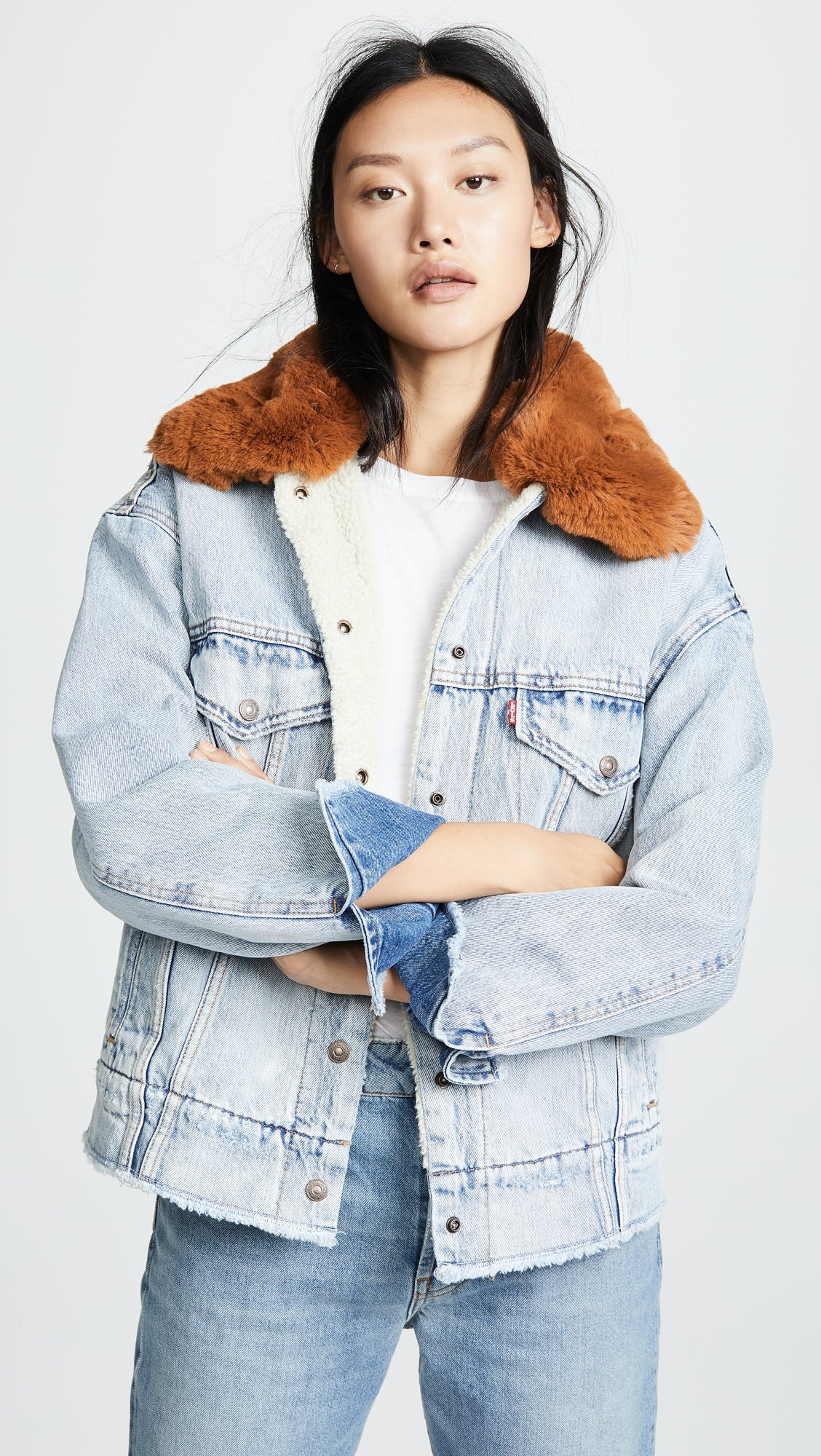 Oversized Sherpa Trucker