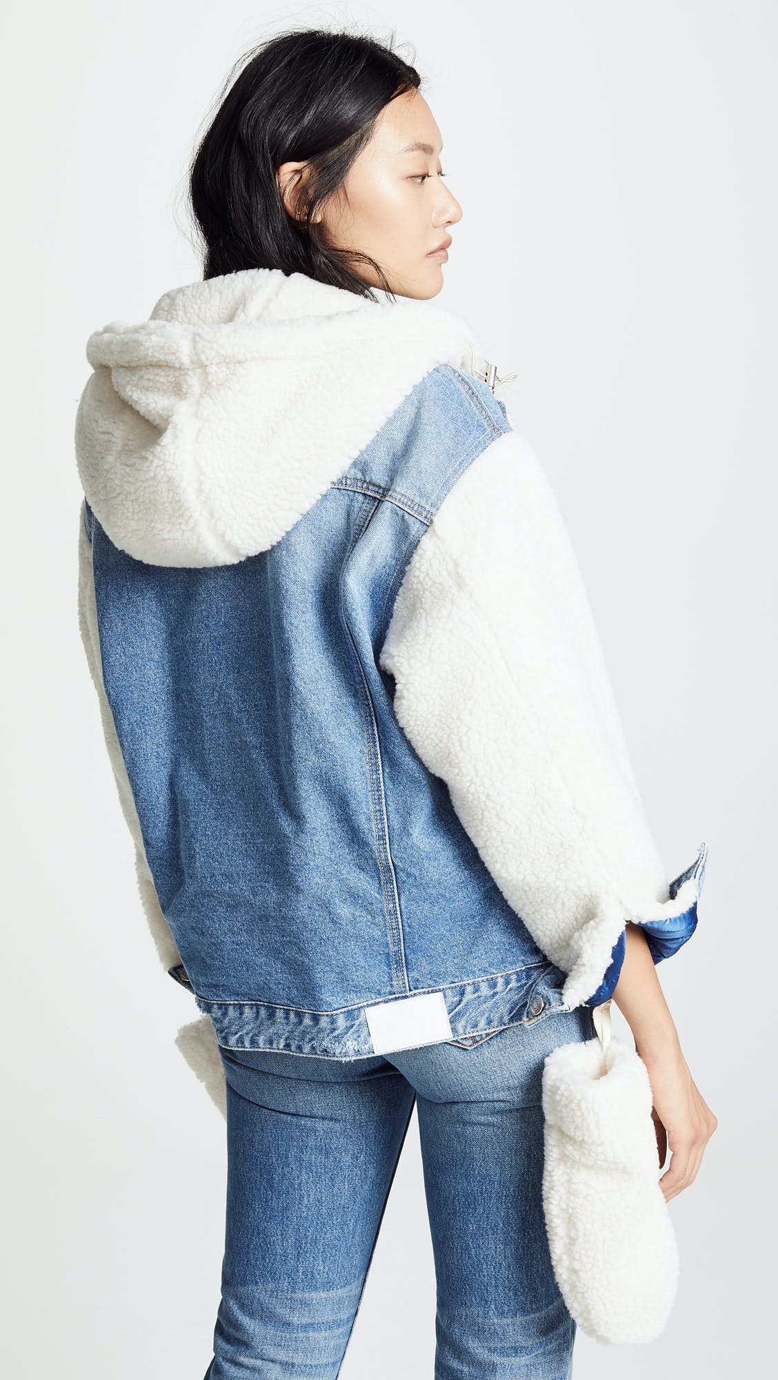 Sherpa Hoodie Denim Jacket
