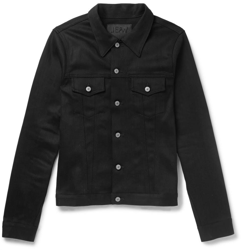 jean shop, denim jacket, jean jacket, trucker jacket, black denim