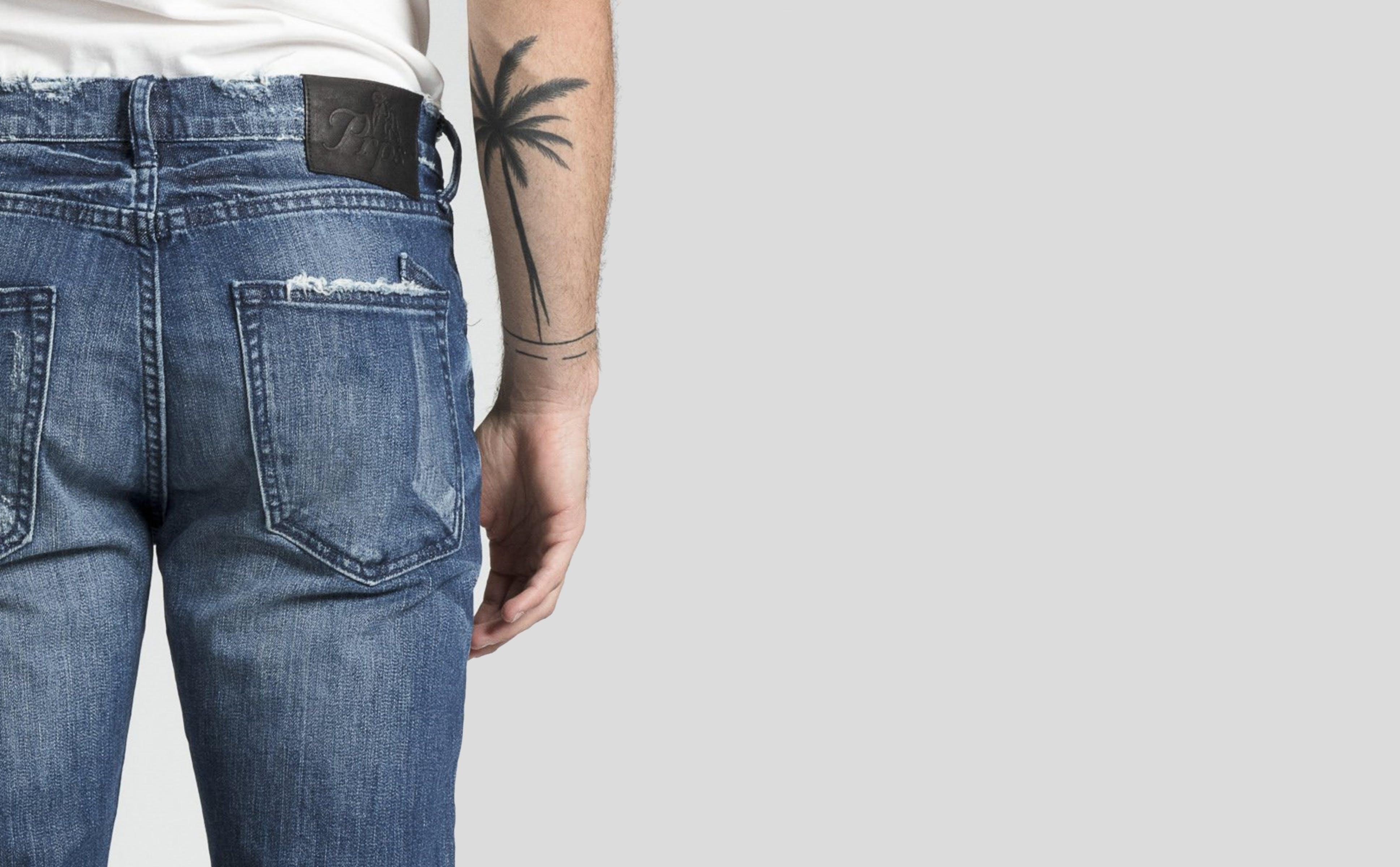 blue jeans, tonal stitching, prps
