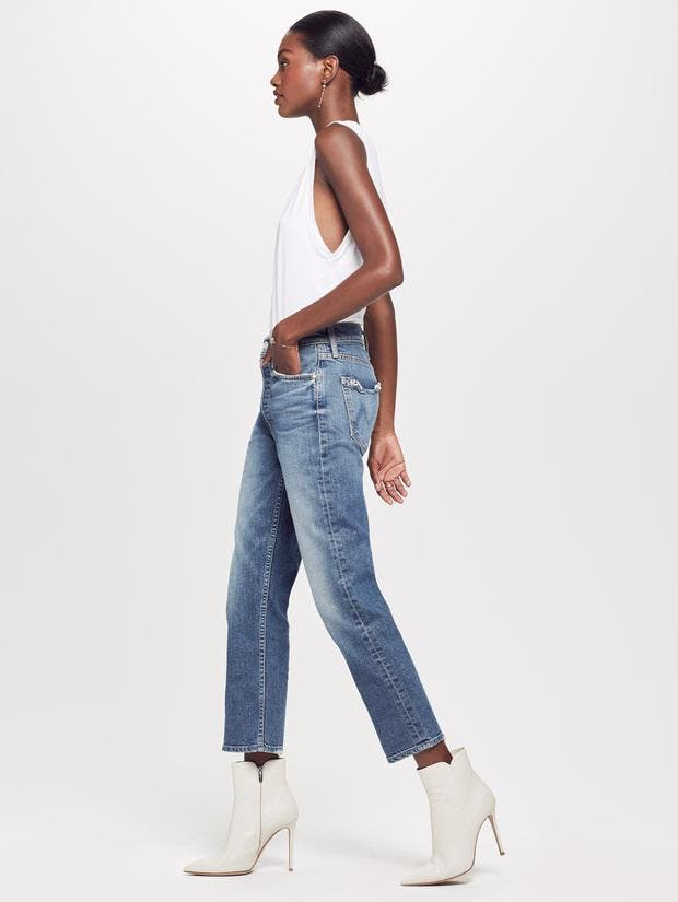 mother denim, mother jeans, cropped denim, destressed jeans