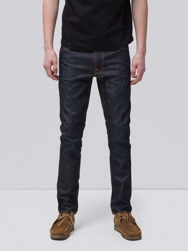 nudie jeans, dry denim, raw denim, selvedge denim