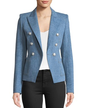 Caden Double Breasted Denim Blazer