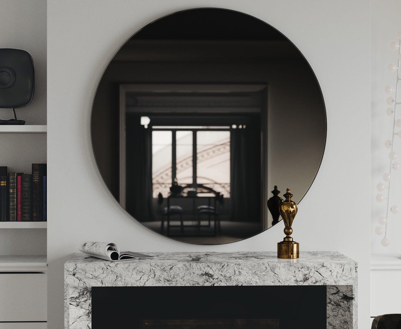 Black Glass Mirror