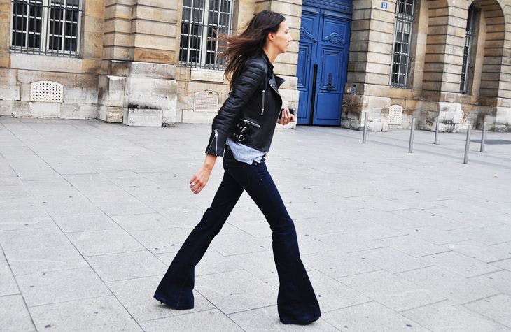 flared jeans,. wide leg jeans, j brand jeans, leather jacket, best wide leg jeans