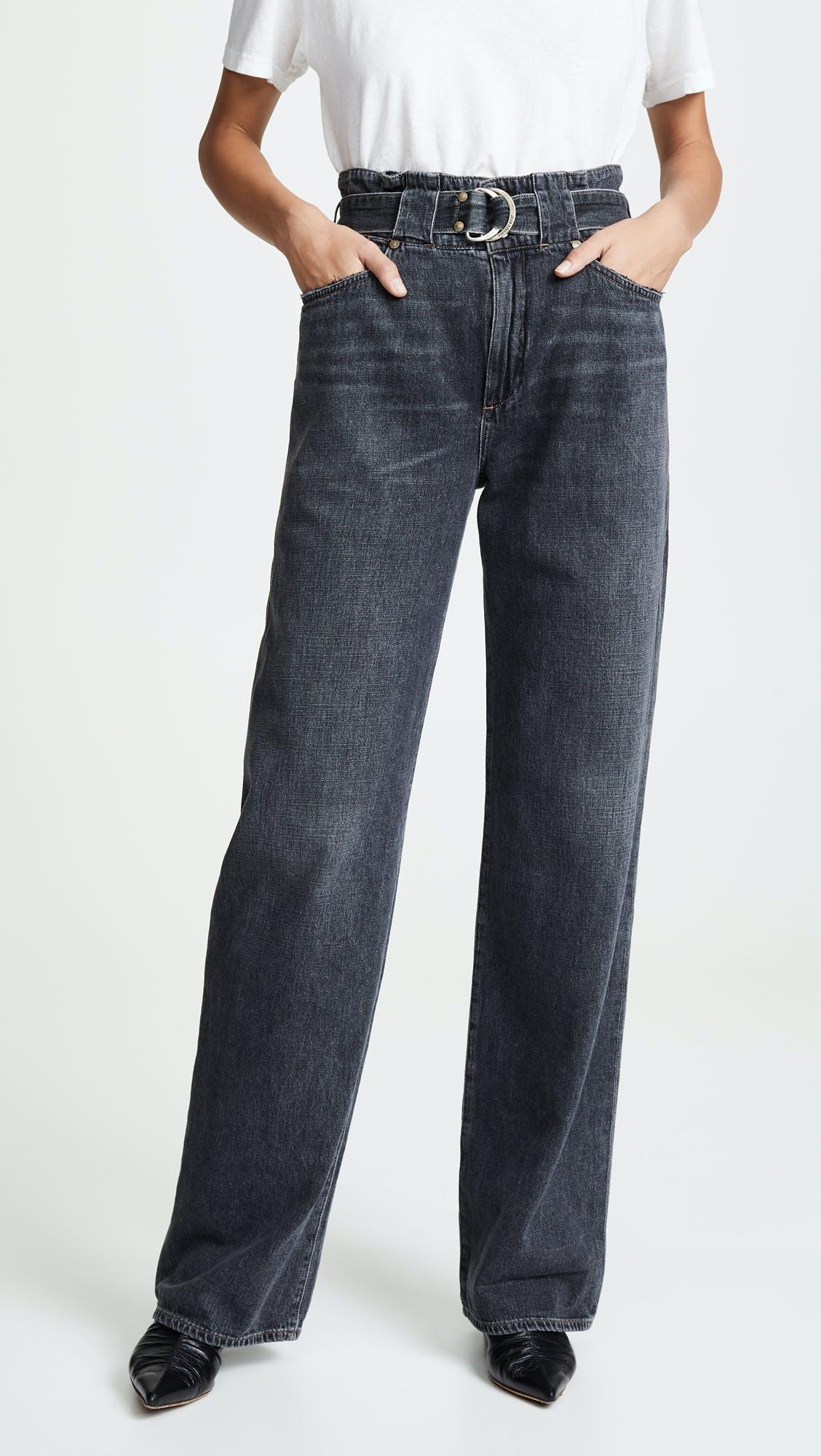 jean atelier, cinch waist jeans, paperbag waist, belted jeans, high rise jeans, high waisted jeans, wide leg jeans, belted jeans