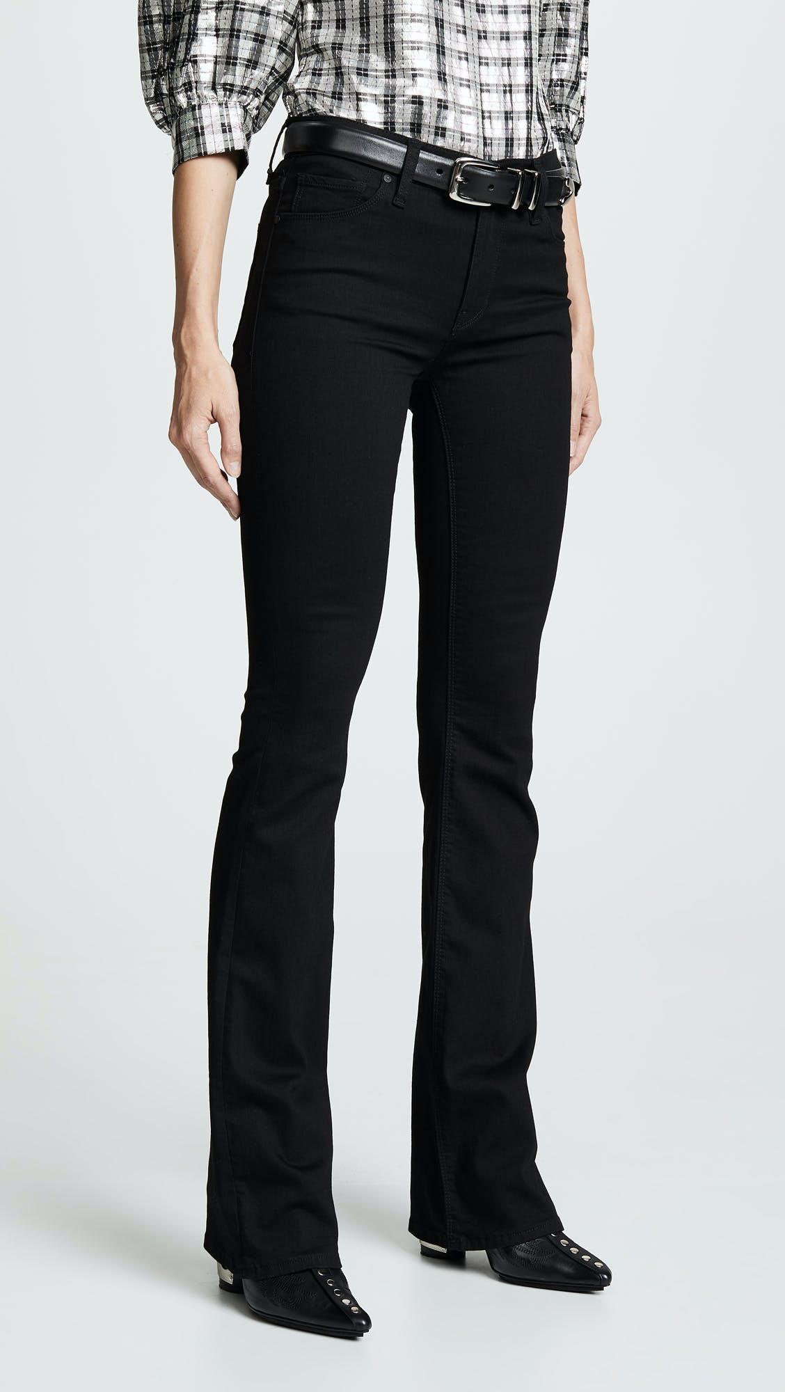 hudson jeans, flare jeans, bootcut jeans, mid rise jeans, black denim