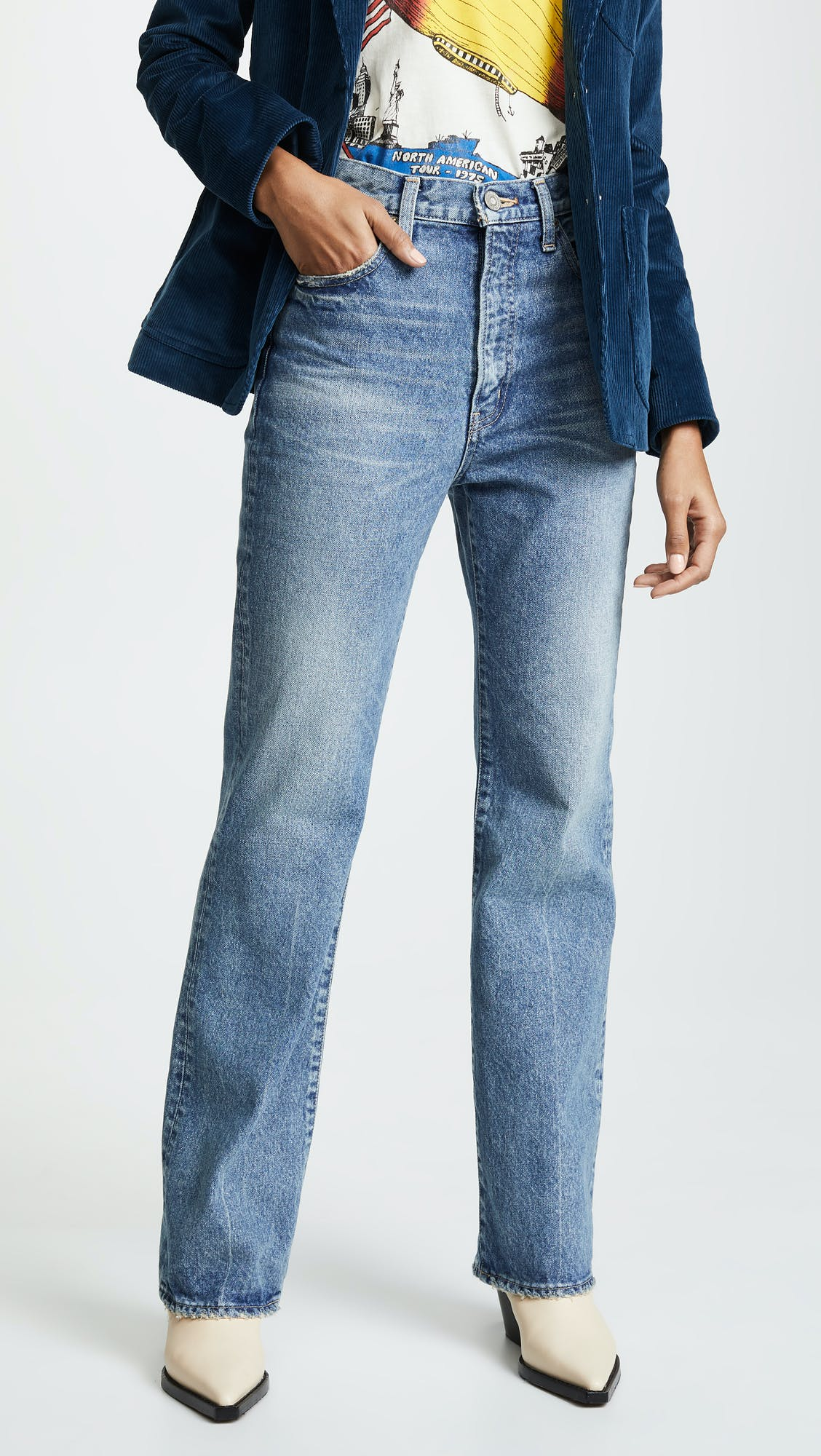 moussy, moussy vintage, moussy jeans, straight flare, vintage jeans, japanese denim, high rise jeans, high waisted jeans