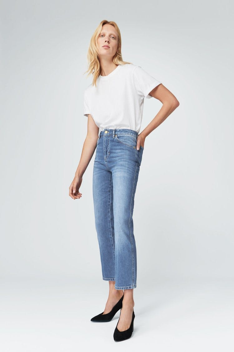 victoria beckham jeans, victoria beckham denim, straight leg jeans, cropped jeans