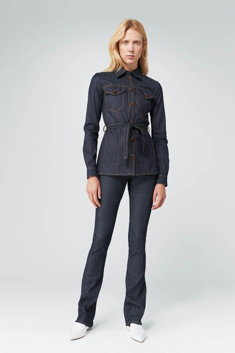 victoria beckham jeans, victoria beckham denim, slim flare, skinny flare, flare jeans, double denim