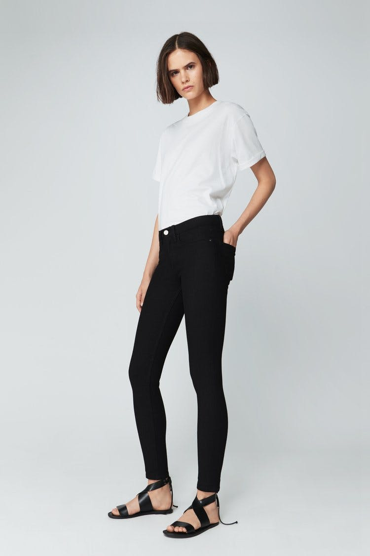 victoria beckham jeans, victoria beckham denim,  skinny jeans, mid rise jeans, black jeans