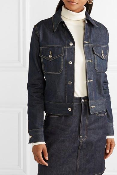eve denim, denim jacket, jean jacket, raw denim, dark denim, trucker jacket