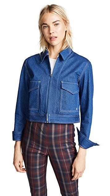 rag & bone, jean jacket, denim jacket, cropped jacket, clean denim jacket, minimal