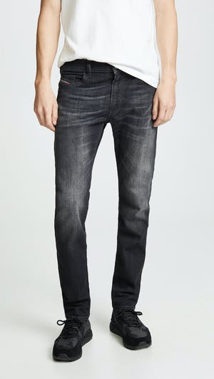 Thrommer Slim Fit Jeans in Black Denim