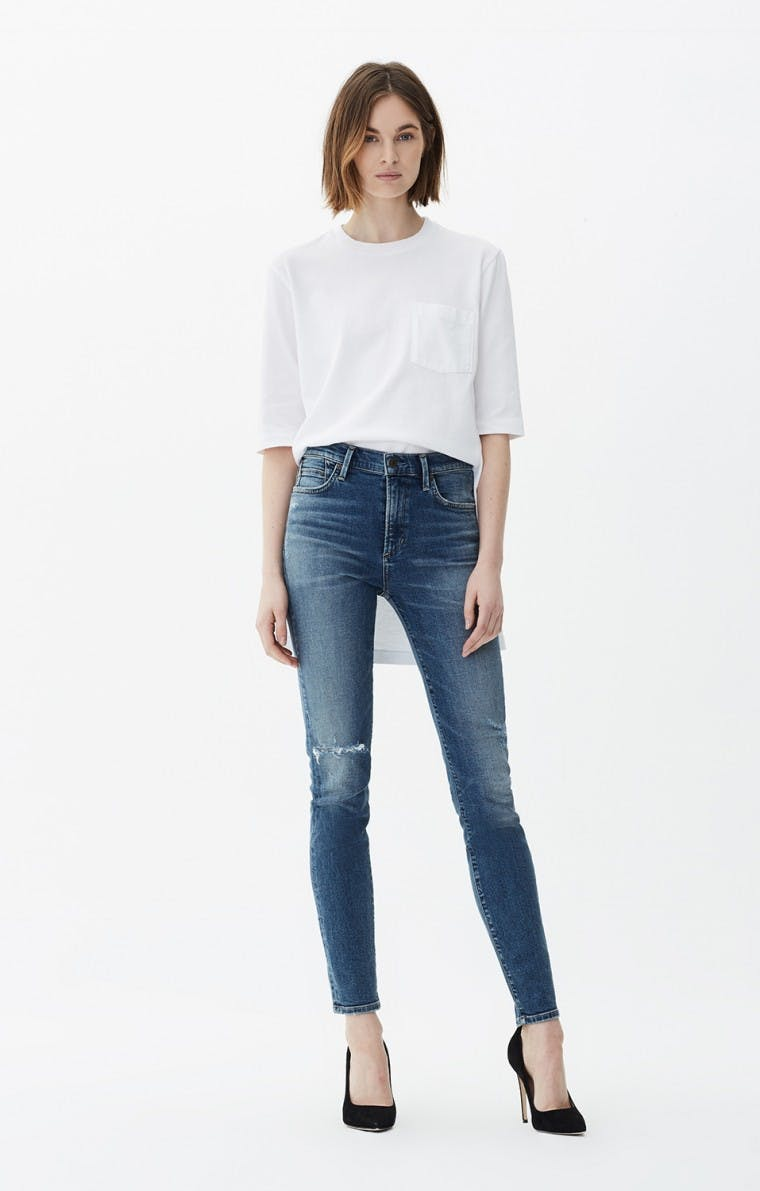 citizens of humanity, jeans, denim, high rise jeans, high waisted jeans, skinny jeans, distressed jeans, blue jeans, vintage jeans