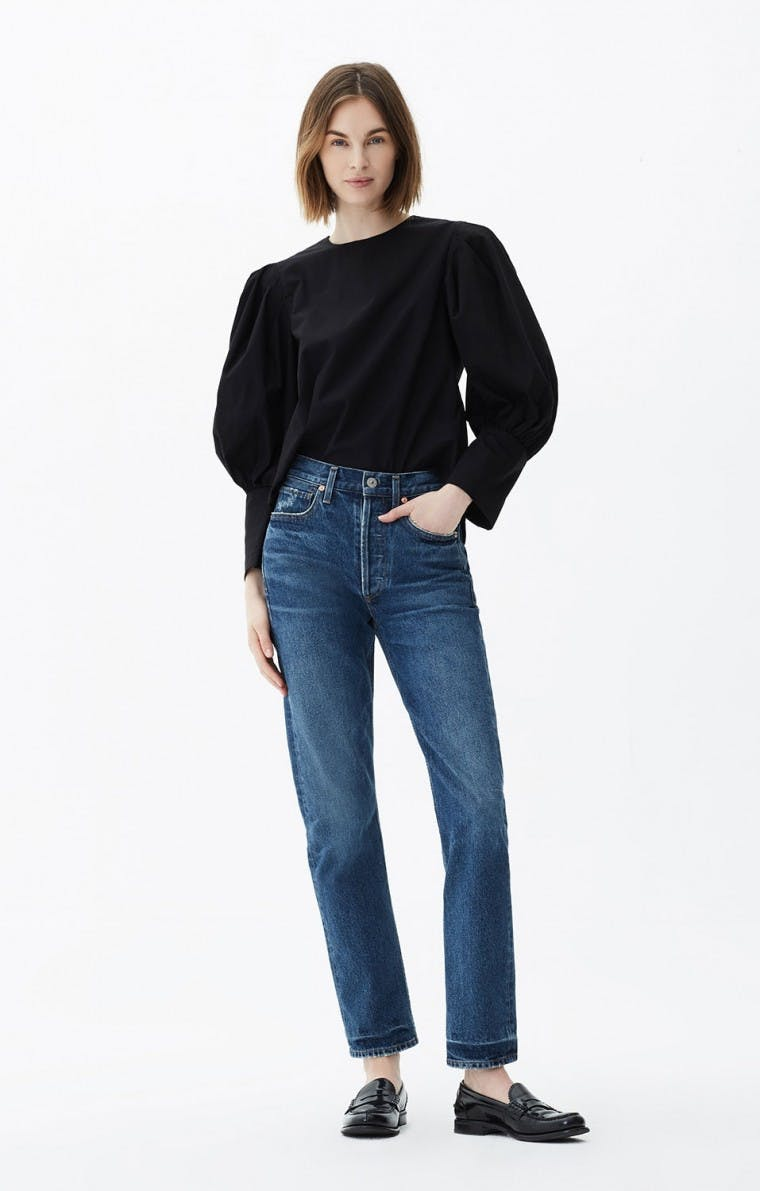 citizens of humanity, jeans, denim, charlotte jeans, high rise jeans, blue jeans, straight leg jeans, cropped jeans, vintage denim