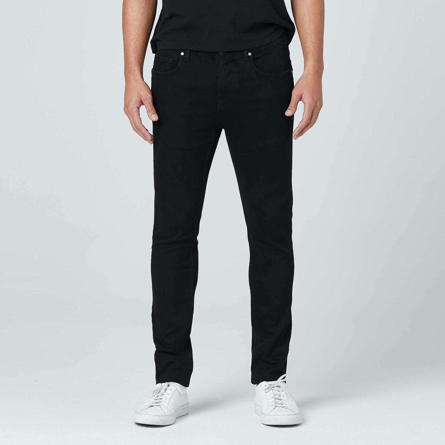 Skinny in Stretch Black Indigo