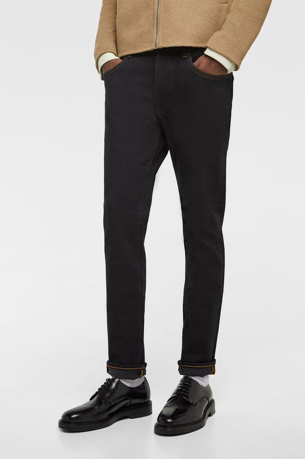 Premium Stretch Jeans in Black