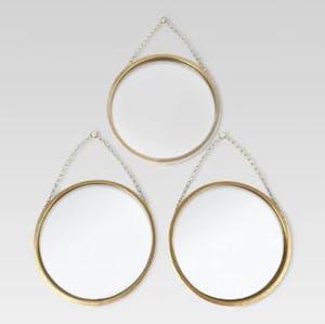 Brass 3-part mirror set