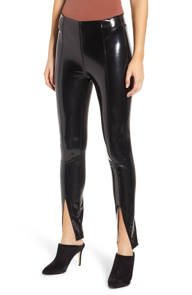 Dominatrix Faux Leather Leggings