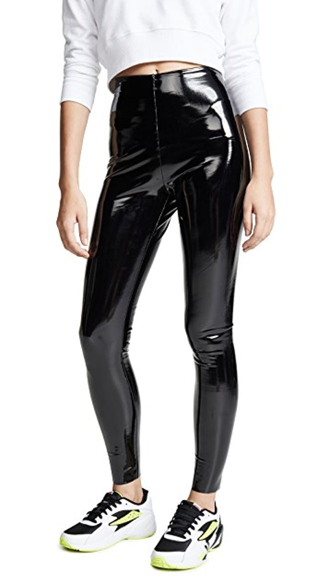 Faux Patant Leather Leggings