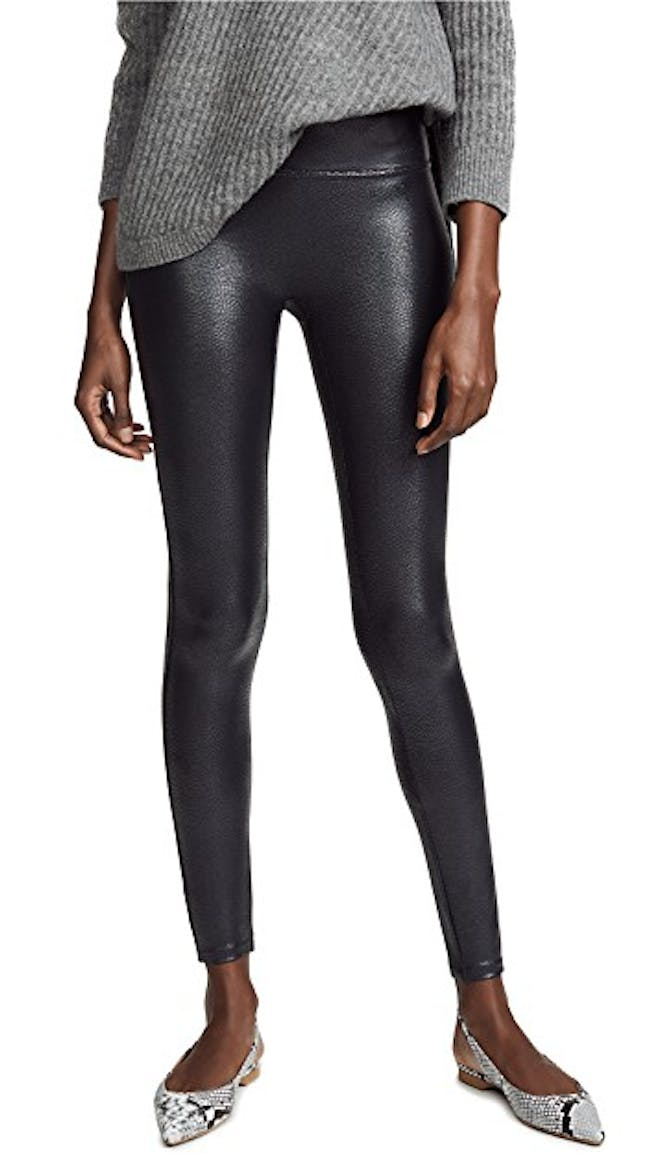 Pebbled Faux Leather Leggings