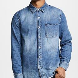 Raw Edge Denim Shirt
