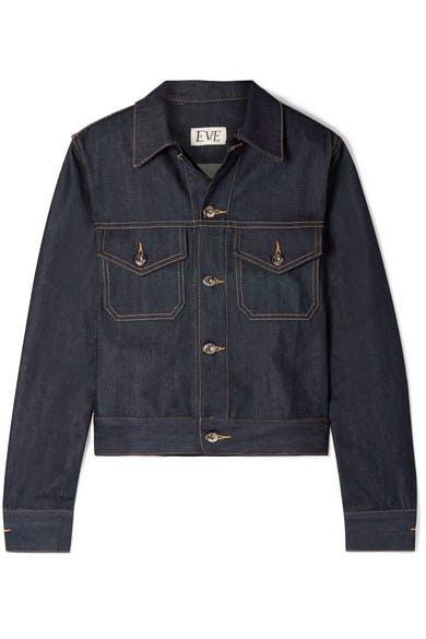 eve denim, kaila denim jacket, raw denim, denim jacket, cropped denim jacket, denimblog