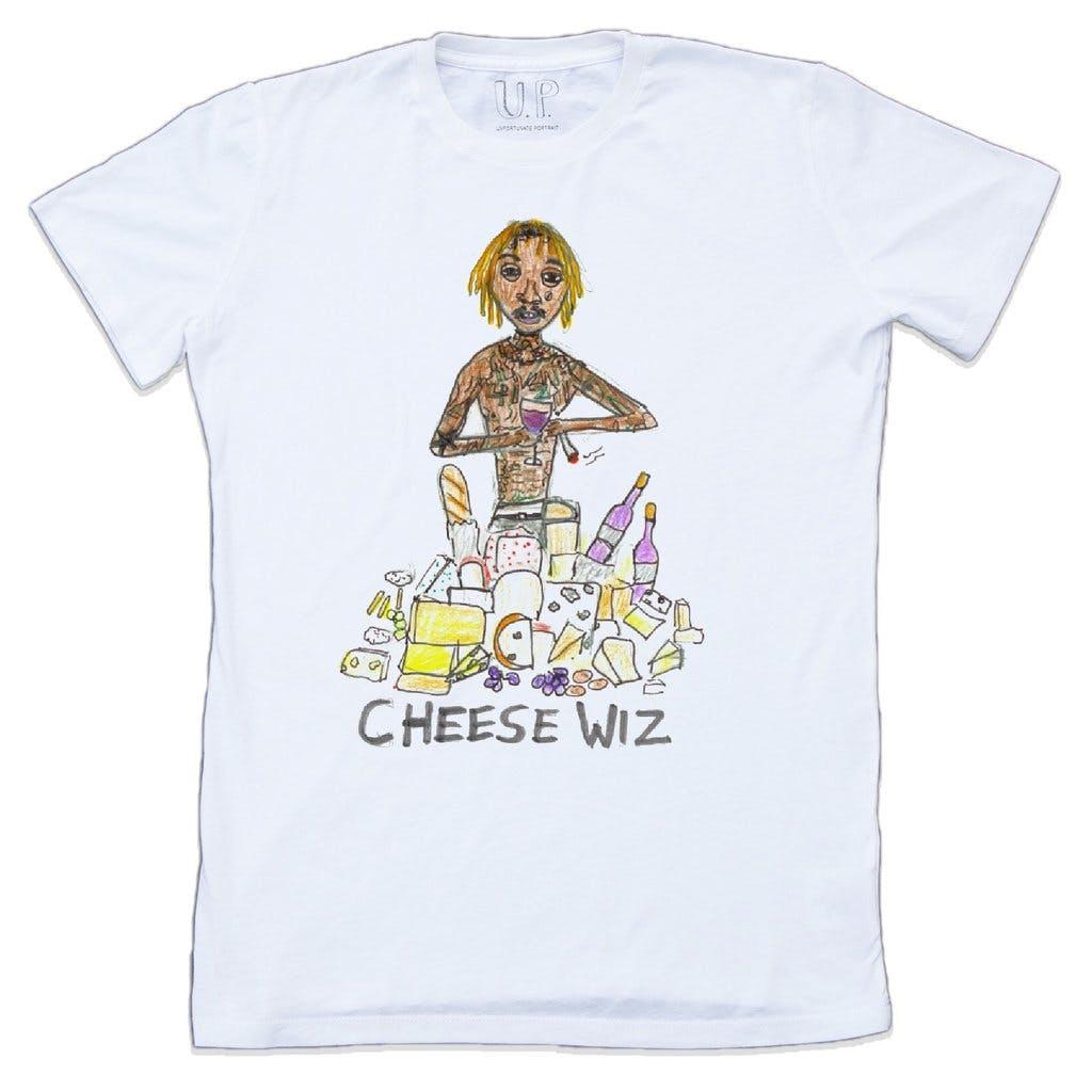 unfortionate portrait, wiz khalifa, graphic t shirt, t shirt, white t shirt, denimblog