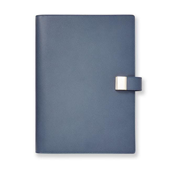 smythson, writing folder, agenda, leather, denimblog