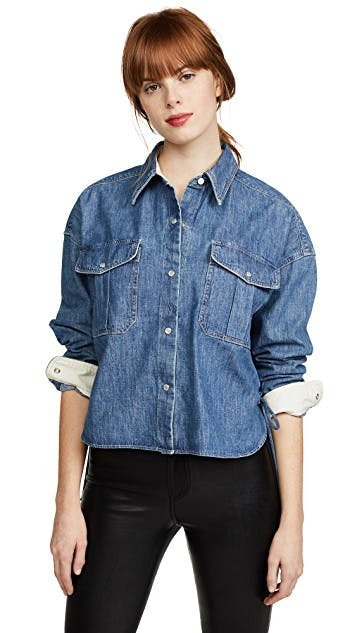 Cropped Mason Chambray Shirt