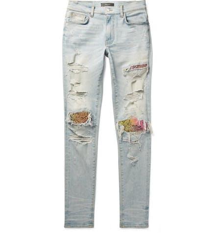 MX1 Skinny Panel Jeans