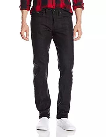Men's Weird Guy Black X Grey Stretch Selvedge Jean