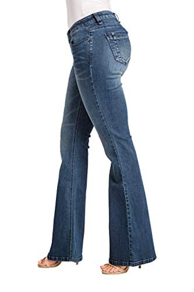 Curvy Fit Blue Stretch Denim Midrise 20