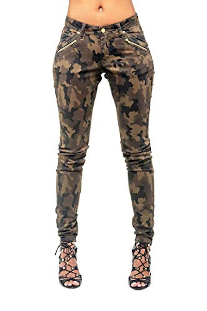 Camo Coated Jeans