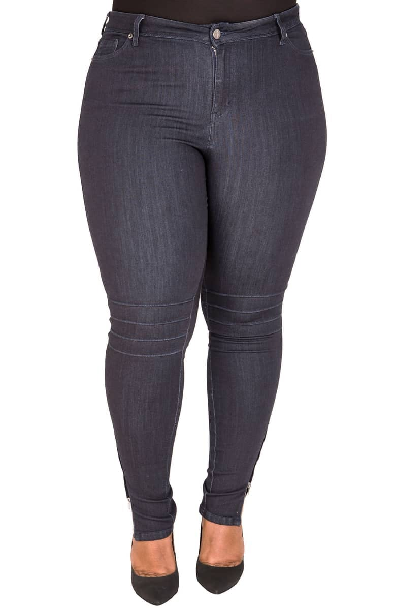 Marley Pintuck Knee Moto Jeans