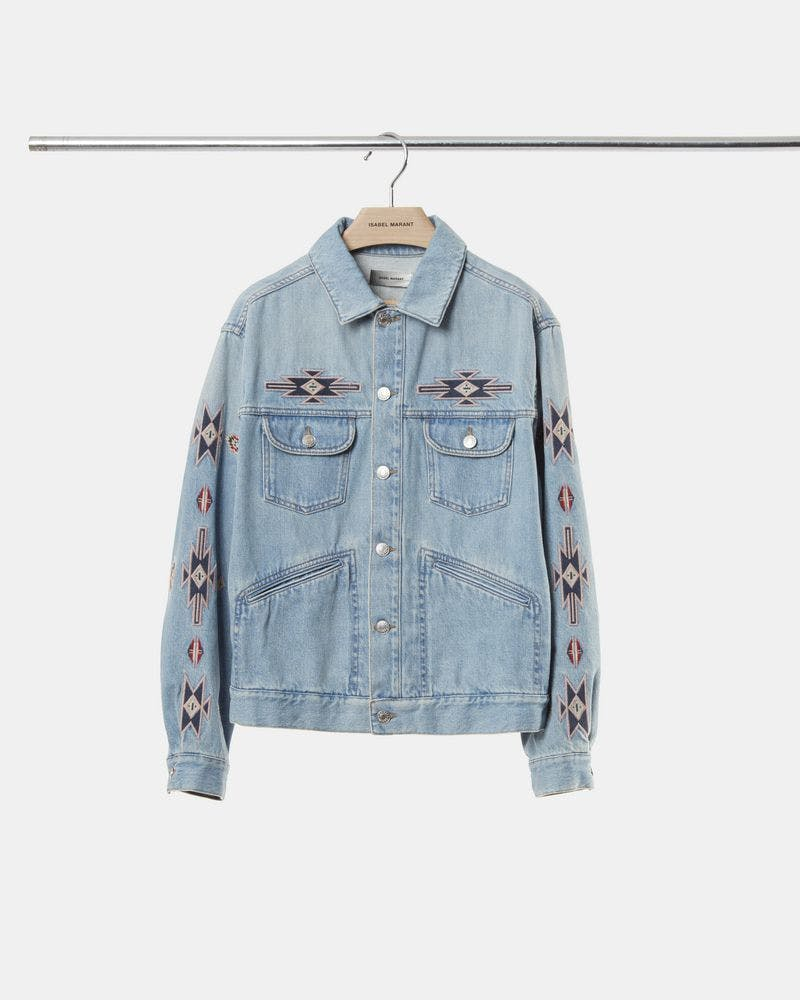 isabel marant homme, isabel marant, isabel marant man, isabel marant men, men's jeans, paris, parian chic, skinny jeans, denimblog, denim blog, jeansblog, jeans blog, jeans, denim, men, man, denim jacket, men's denim jacket, embroidered denim, embroidered denim jacket, embroidered, embroidery, denim jacket, jean jacket, trucker jacket, western jacket, embroidered jean jacket, embroidered western jacket