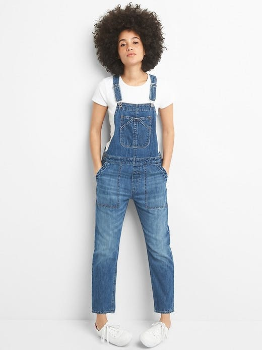 The Relaxed Denim Overalls