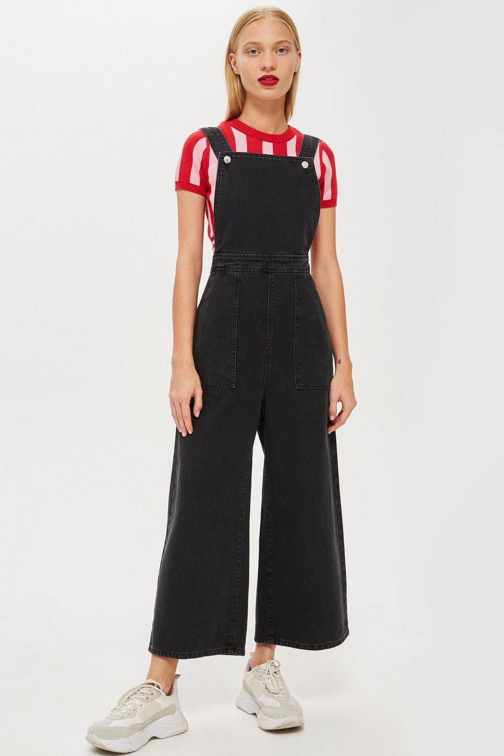 The Cropped Wide Leg Overalls