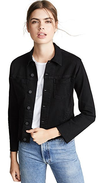 The Janelle Slim Raw Denim Jacket