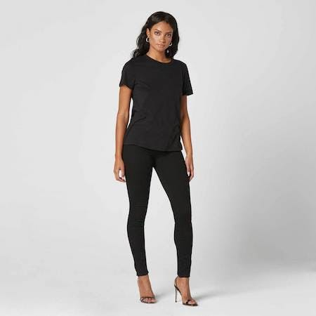 black high rise jeans, black high waisted jeans