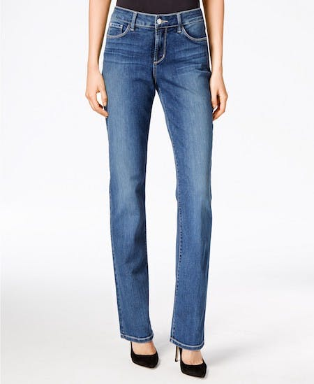 straight leg, best jeans for curves