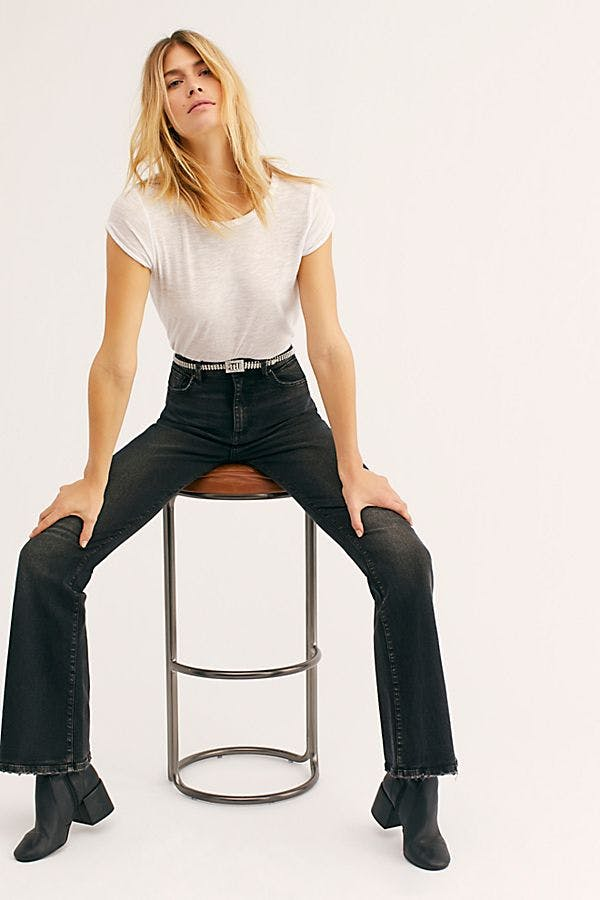 flare jeans, high rise flare jeans